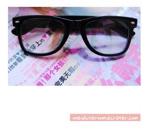 Black Thick-Framed Nerd Glasses