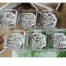 Greetings Crystal Round Stamps