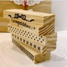 Very Long Pattern Stamps Set - 5 pcs