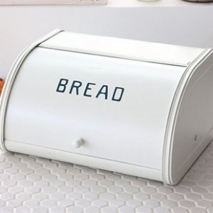 White Tin Bread Storage