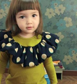 Girl's Green Balloon Shirt