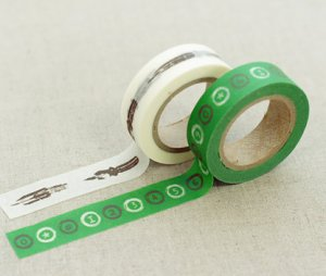 Masking Tape 2 in 1 - Green and White II