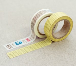 Masking Tape 2 in 1 - Yellow and White II
