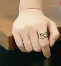 Gold-Colored Infinity Ring