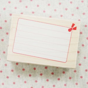 Blank Tag Maple Stamp with Little Bow