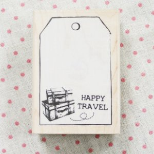 Happy Travel Tag Maple Stamp