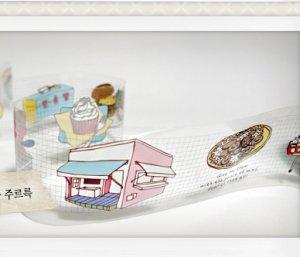 Transparent Cafe Illustration Deco Tape