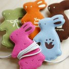 Lovely Rabbit Earphone Winder - Green, Blue, Pink, Orange, Brown