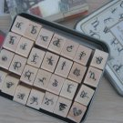 Decorative Alphabet Stamps - 28 pcs