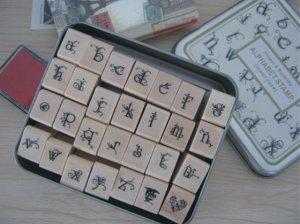 Decorative Alphabet Stamps - 28 pcs