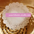 White Round Lace Paper for Gift Wrapping- 10 pcs