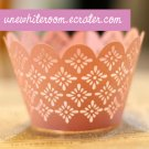 Pink Flower Cupcake Wrapper - 10 pcs