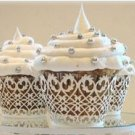 White Flora Cupcake Wrapper - 10 pcs