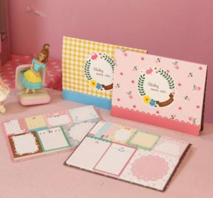 Cutie Sticky Note Memo - Pink and Yellow