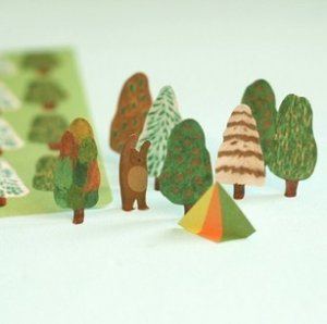 Green Forest Stickers