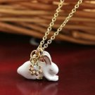 White Porcelain Rabbit Necklace