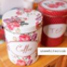 Lovely Rose Manor Coffee, Tea, Sugar Tin Box