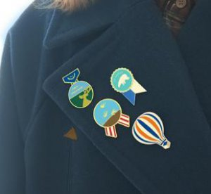 Cute Colorful Medal Brooch