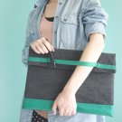 Hand-Slip Denim Laptop Bag - pink, orange, green, camel