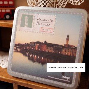 Retro Polaroid World Travel Postcard