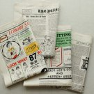 Colorful Vintage Newspaper Cotton Fabric - 145 x 80 cm