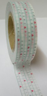 Heart Checkered Paper Tape