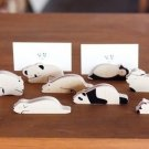 A Pair of Wooden Animal Notes Holder - Panda, Sheep, Hippo, Cat, Dog, Polar Bear, Koala, Penguin