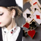 A Set of Poker Suite Brooches - 8 pcs