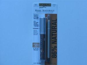 L'Oreal Bare Naturale Mascara w/bonus Le Kohl Pencil Liner Blackest Black( Set )