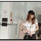 #154YY1284-Korean fashion hollow shoulder blouse-2 Colors(White)