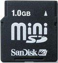 SanDisk miniSD Card 1GB (SDSDM-1024)