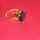 18k rose gold over sterling silver ring..