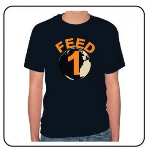 FEED 1 Navy Tee (Men) 100% Cotton