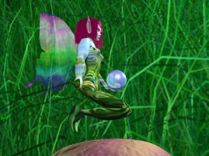 Magic Floating Faery on a mushroom