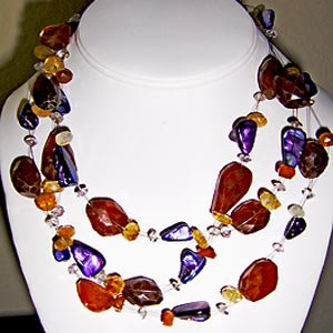033N-Charming Gems necklace.