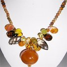 030N-Fashionable Necklace with Carnelian Pendant.