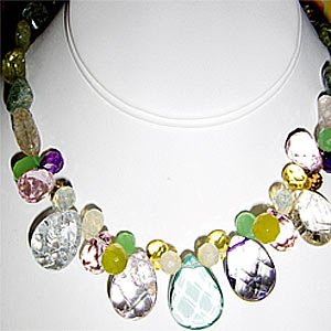 022N-Wonderful Quartz Necklace.