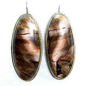 038E-Large Jasper earrings.