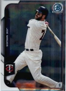 2015 Bowman Chrome Joe Mauer #52 Twins NM+