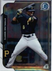 2015 Bowman Chrome Starling Marte #54 Pirates NRMT+