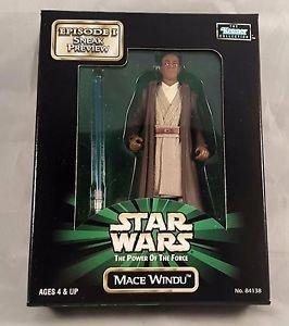 Star Wars Mace Windu POTF Episode 1 Sneak Preview New