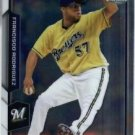 2015 Bowman Chrome Francisco Rodriguez #126 Brewers NRMT+