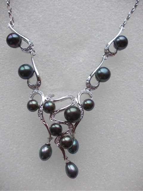 Black Water Pearl Necklace