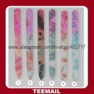 fashion glass nail file with fancy transfer pattern in hot selling