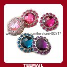 latest beautiful acrylic rhinestone button with shank and plating base in hot selling