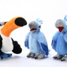 Rio the Movie Stuffed Toy Blue Macaw Plush Set - Blu & Jewel & Rafael