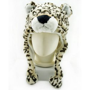 Leopard Animals Mascot Fancy Dress Costume Fur Hat Mask Cap #11306