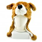 Brown Bear Face Mascot Fancy Dress Costume Fur Hat Mask Cap #11307