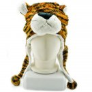 Dark Brown Tiger Mascot Fancy Dress Costume Fur Hat Cap #11310