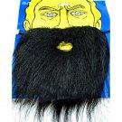 Black Halloween Fake Beard Mustache Facial Hair Costume #11095